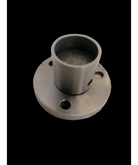 Bodenanker 4° Edelstahl V2A geschliffen für Pfostenrohr 42,4/1,5-3mm