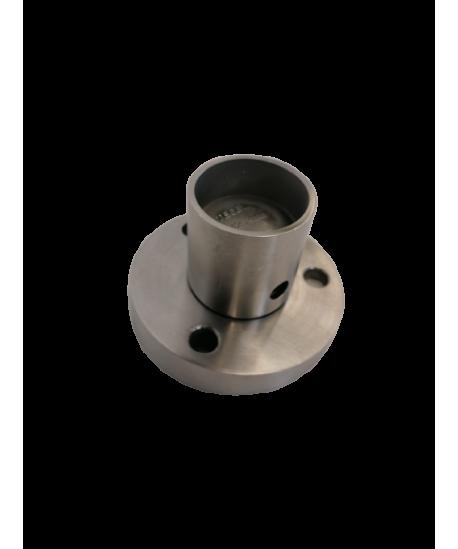 Bodenanker 8° Edelstahl V2A geschliffen für Pfostenrohr 42,4/1,5-3mm