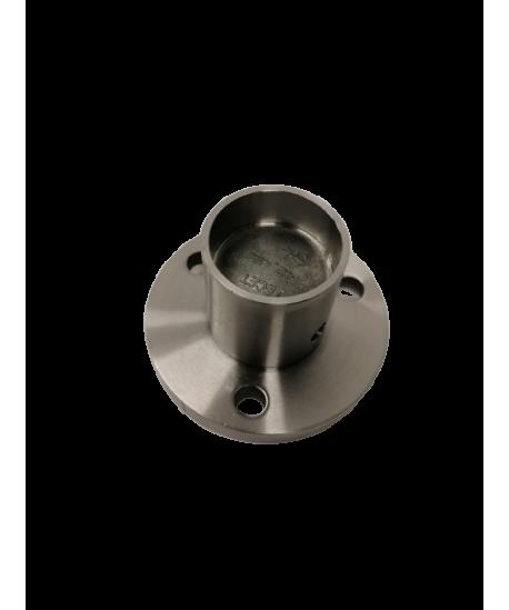 Bodenanker waagerecht Edelstahl V2A geschliffen für Pfostenrohr 42,4/1,5-3mm