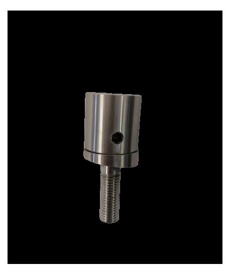 Bodenanker-Klebeanker 8° Edelstahl V2A geschliffen für Pfostenrohr 42,4/1,5-3mm
