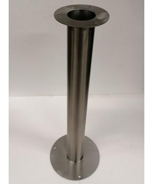 Tischbein Edelstahl rund - 8cm